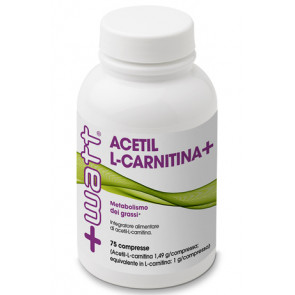 +Watt Acetil L-Carnitina 75 compresse (1,49 g acetil-l-carnitina per compresse).