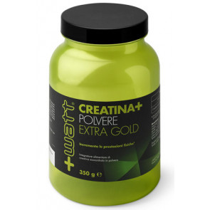+Watt - Creatina+ polvere Qualità ExtraGold 350 g, Guten Free