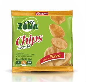EnerZona Chips 40 30 30 minipack 1 blocco 25g. Gusto Pizza
