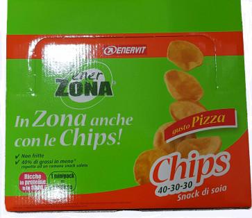 EnerZona Chips 40 30 30 confezione da 14 minipack da 25g. Gusto Pizza