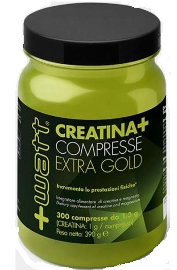 + Watt - Creatina+compresse Qualità ExtraGold 300 cpr, Gluten Free