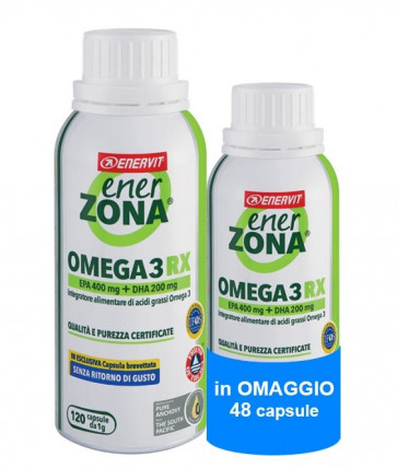 EnerZona Omega 3 RX - 120 perle + 48 Omaggio 1 g ( 0,6 g EPA-DHA)