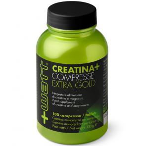 + Watt - Creatina+compresse Qualità ExtraGold 100 cpr, Gluten Free